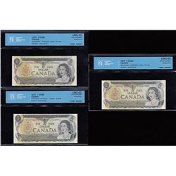 Bank of Canada $1, 1973 - Replacement Lot of 3