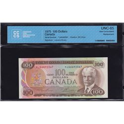 Bank of Canada $100, 1975 Replacement