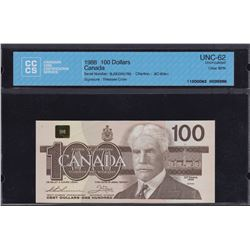 Bank of Canada $100, 1988 Replacement