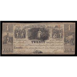 Agricultural Bank $4, 1835
