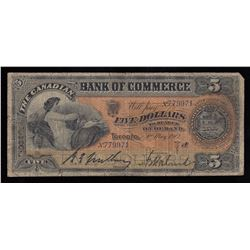 Canadian Bank of Commerce $5, 1912