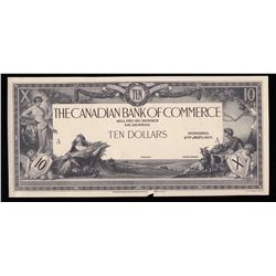 Canadian Bank of Commerce $10, 1917