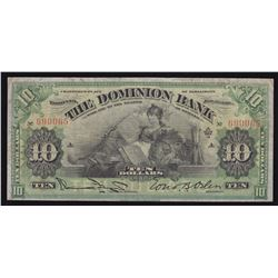 Dominion Bank $10, 1910