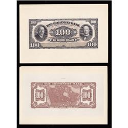 Dominion Bank $100, 1931