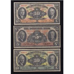 Dominion Bank - Lot of 3