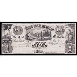 Farmers' Bank of Malden $1, 18_