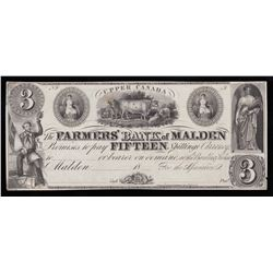 Farmers' Bank of Malden $3, 18_
