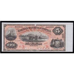 Halifax Banking Company $5, 1887