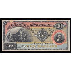 Banque D'Hochelaga $10, 1889