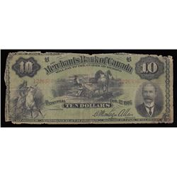 Merchants Bank of Canada $10, 1906