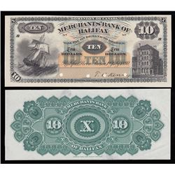 Merchants Bank of Halifax $10, 1880