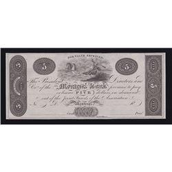 Montreal Bank $5, 18_