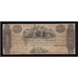 Bank of New Brunswick One Pound, 1858