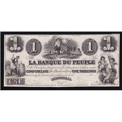 Banque du Peuple $1, 18_