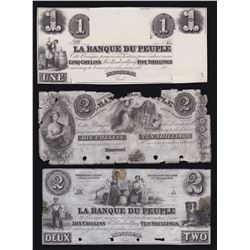Banque du Peuple - Lot of 3 Proofs