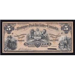 Banque Provinciale du Canada $5, 1900
