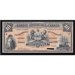 Banque Provinciale du Canada $10, 1900