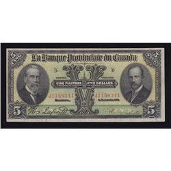 Banque Provinciale du Canada $5, 1919