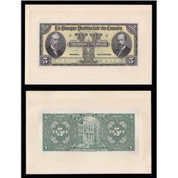 Banque Provinciale du Canada $5, 1928