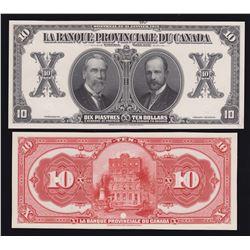 Banque Provinciale du Canada $10, 1919
