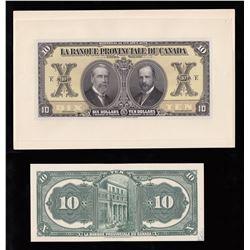 Banque Provinciale du Canada $10, 1928