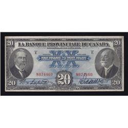 Banque Provinciale du Canada $20, 1928