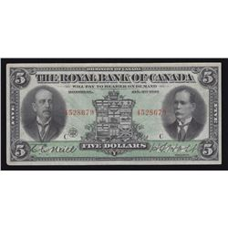 Royal Bank of Canada $5, 1913