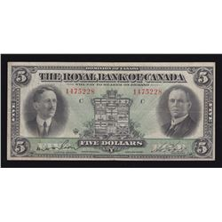 Royal Bank of Canada $5, 1927