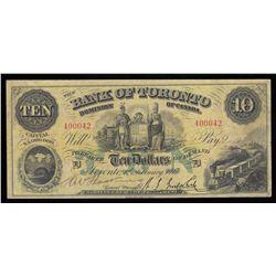 Bank of Toronto $10, 1917