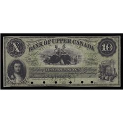 Bank of Upper Canada $10, 18_