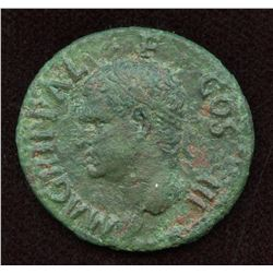 Agrippa (died 12 BC), struck under Caligula. AE As