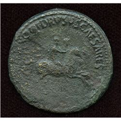 Nero and Drusus Caesar, struck under Caligula (40/41 AD). AE Dupondius