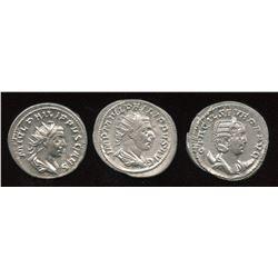 Philip I (244-249 AD) & Family. AR Antoninianus. Lot of 3