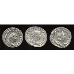Philip I (244-249 AD) & Family. AR Antoninianus. Lot of 3