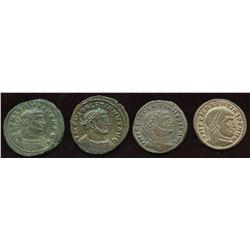 Roman Tetrachy (293-313 AD) Group. AE Follis. Lot of 4