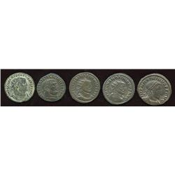 Roman Tetrachy (293-313 AD) Group - Mixed. Lot of 5