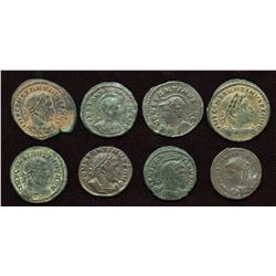 Constantine The Great. 307-337 AD. London Mint Group. AE Follis. Lot of 8