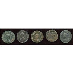 Constantine II, as Caesar. 316-337 AD. London Mint Group. AE Follis. Lot of 5