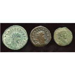 Romano-British Emperors Group. Lot of 3