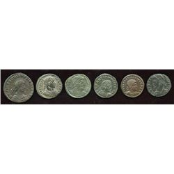 4th Century Emperors Group. Lot of 6
