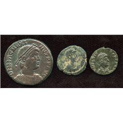 Magnus Maximus (383-388 AD) & Flavius Victor (387-388 AD) Group. Lot of 3