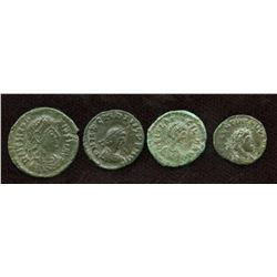 Late Roman Empire Group. Lot of 4