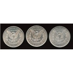 Silver Dollar, 1880 - Lot of 3