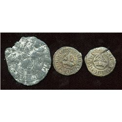 England. Late Middle Ages. 'Boy Bishop' Lead Tokens. Lot of 3