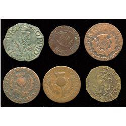 England. JAMES VI 1572-1625 - Lot of 6