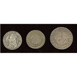 England. Charles II 1660-1685. Lot of 3