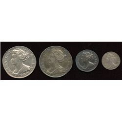 Great Britain. Anne 1702-1714 - Lot of 4