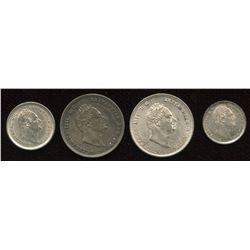 Great Britain. William IV 1830-1837 - Lot of 4