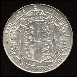 Great Britain. Edward VII Half Crown, 1902