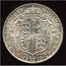 Great Britain. Edward V Half Crown, 1915